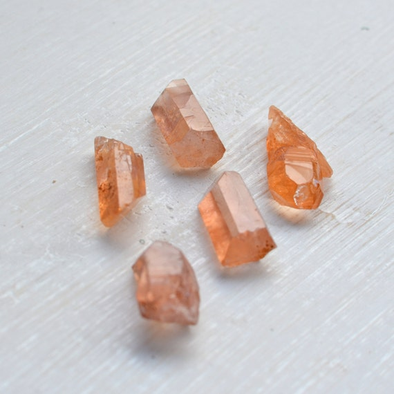 Tangerine Quartz Points - Set of Five