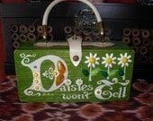 Vintage retro 60 s 70s Boho Hippie Shabby Chic Colins OF Texas Bag Box Purse Daisies Won't Tess