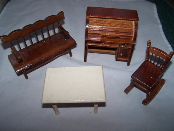 vintage dollhouse furniture miniature furniture by