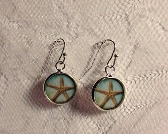 Sand Dollar Beach Earrings