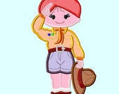 Girl Scout Applique Embroidery Design 2 sizes