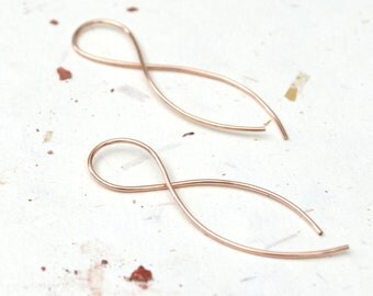 Infinity Hoops <<>> Rose Gold, Yellow Gold, or Sterling Silver