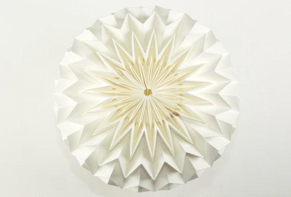 BUBBLE: Hanging Decor Origami Paper Ball - White / FiberStore by Fiber Lab