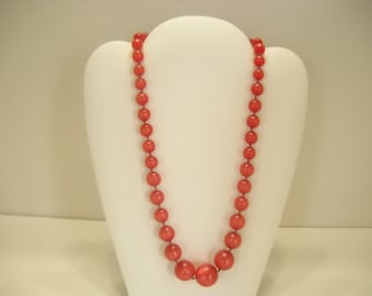 "17"" RED MOONSTONE NECKLACE (7341)"