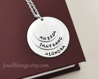 Mother Necklace mom of 3 Personalized necklace mommy necklace 3 kids name three kids children
