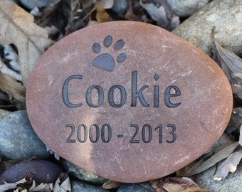 Custom Pet Memorial with Paw Print and 2 Years