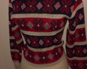 Reduced Price 1940s 1950s Christmas Winter Sweater