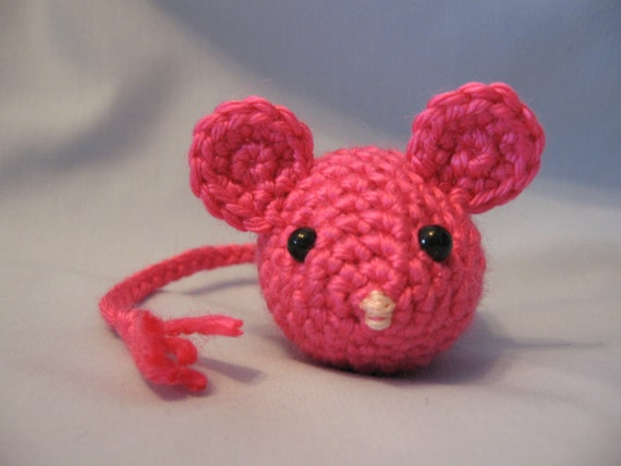 Cat toy crochet mouse catnip filled watermelon by hooked2012 for How to crochet cat toys