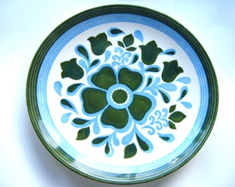 Vintage Blue and Green Pottery Charger or Platter