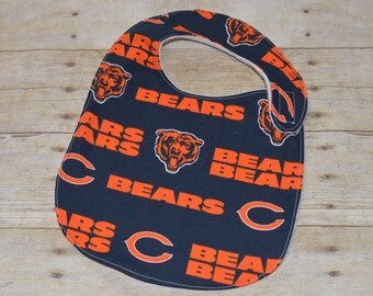 Chicago Bears Toddler Baby Bib for babies 12 months and over