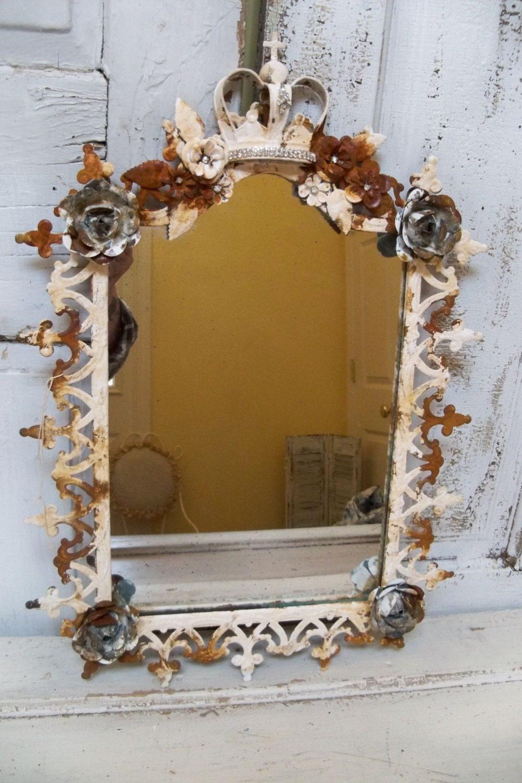 Ornate Large Framed Mirror French Inspired Frame Embellished