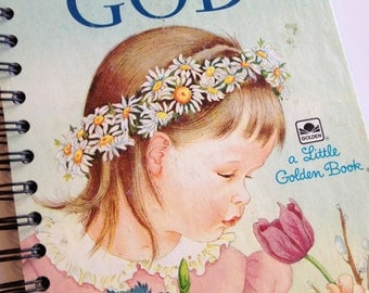 My Little Golden Book About God Little Golden Book Recycled Journal