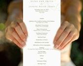 Nature, Customized Wedding Program, Printable Program