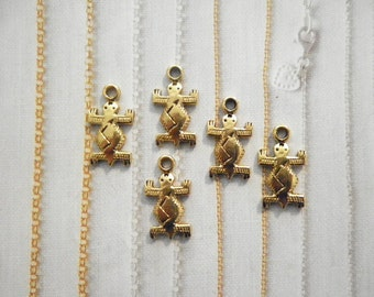 5 Goldplated 20mm Turtle Charms