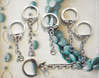 6 Silverplated Key Rings