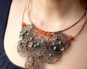 Bohemian Oriental Copper Tree of Life Necklace - WireMoon