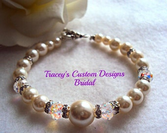 Bridal Keepsake Bracelet - CUSTOM MADE DESIGNS