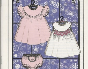 Infant Snowdrift Smocked Dress Sewing Pattern by Judith Marquis