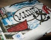 MINT Souvenir Maine Linen Kitchen Towel by Kay Dee