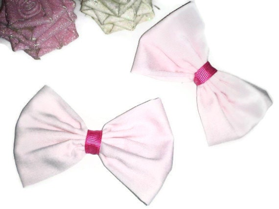 2 Pretty in Pink Bows, Valentines Day bows, Girly Bows, Womens hair bows, Valentines day gifts, gift ideas, girly hairbows, large bows,