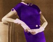 Vintage 1935 by Molyneux Paris Designer 2-Pc Dress 434 PDF Digital Crochet Pattern