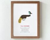 Illustration. To kill a mockingbird. Based novel by Harper Lee. Print. Wall art. Art decor. Printed art. Decor home. Gift idea. Bedroom.