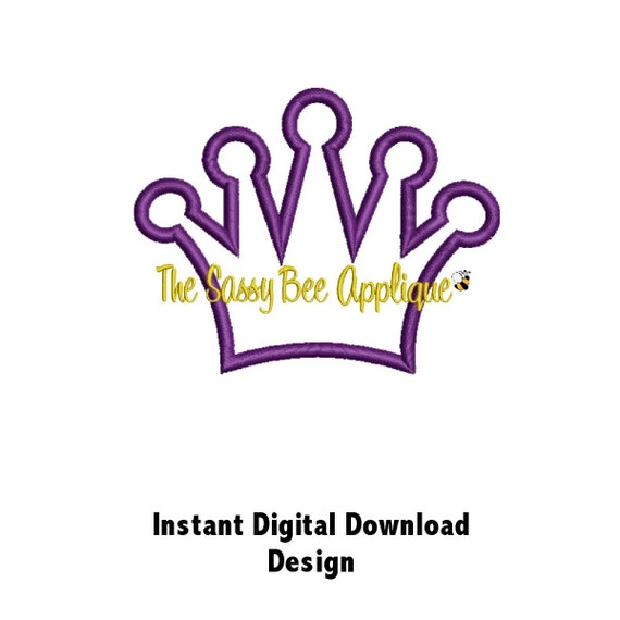 Pageant Crown Embroidery Design