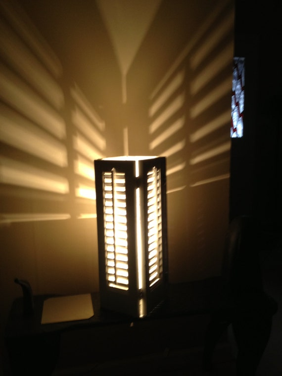 Vintage window shutters lamp