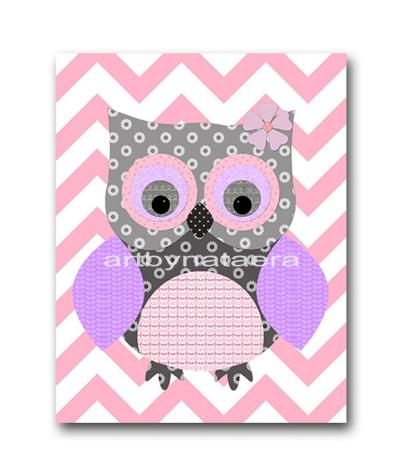 Owl decor owl wall art baby girl nursery art nursery wall art - Girl owl decor ...
