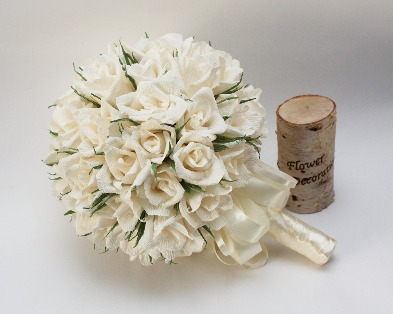 Wedding Bouquets Paper Flower Bouquet Bridal By FlowerDecoration