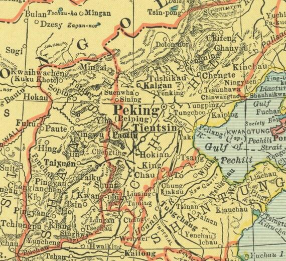 Vintage Map China Japan From Original - Japan map 1930