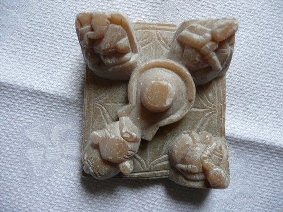 Items similar to antique stone carving soap