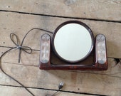 """Vintage General Electric """"The looking Glass"""" double sided light up mirror"""