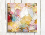 Pastel Abstract canvas print - housewarming gift