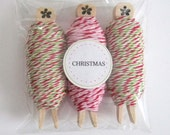 Bakers Twine Christmas 3 pack - Divine Twine Holiday and Peppermint
