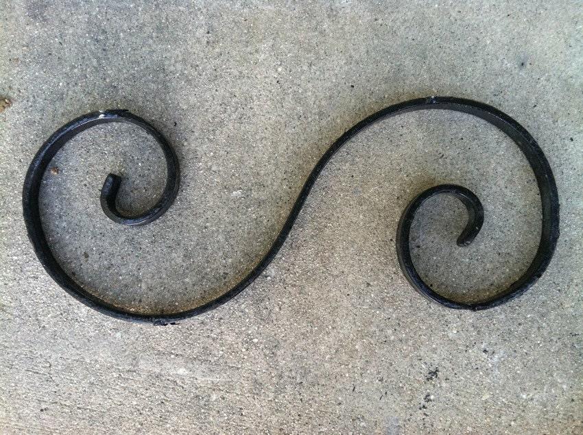 9 Pcs Wrought Iron Gate Embellishments Black Ornamental