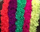 Ruffled Crocheted Scarf