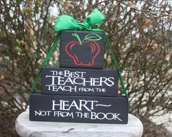 Teacher Gift Wood Block Set
