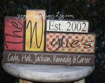 Personalized Name Wood Block Set