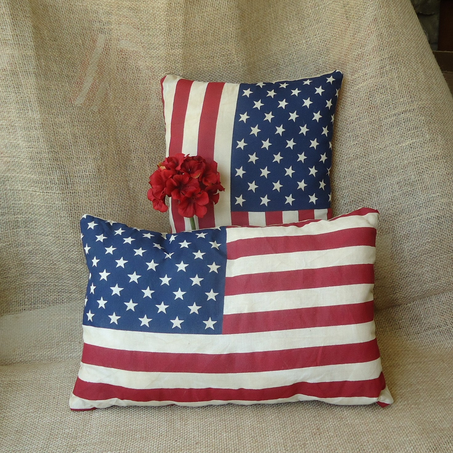 Patriotic american flag decor holiday decor small pillows for American flag decoration