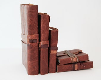 Custom Handmade Leather Bound Mexican Adventure Collection Set NFS (188)