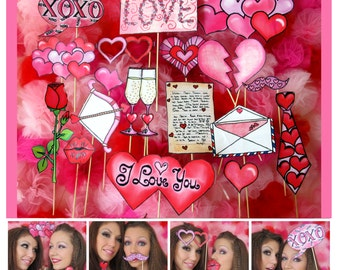 Love and Hearts Photo Booth Props - all about romance - the different kind of wedding photo booth props - celebrate your love