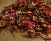 Pink Rose Petals & Buds, Rosa Centifolia, Organic, Fresh Dried Herbs - 1 oz bag