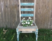 Upcycled chair planter - FramedinLove