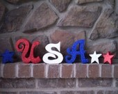 USA Wood Letters