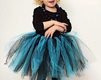 Turquois and Black Rock Star Tutu