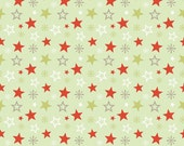 Merry Stars in Green  from Merry Little Christmas by Zoe Pearn for Riley Blake 1/2 Yard Cut