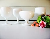 Milk Glass Compotes, Wedding Decoration, Centerpiece