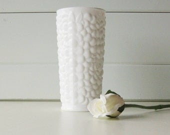 Milk Glass Vase, Wedding, Cottage Chic, Farmhouse, Rustic, Organic