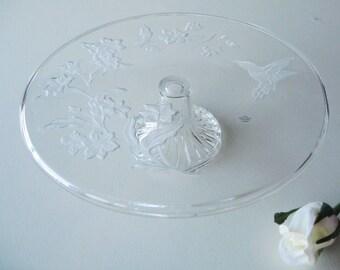 Cake Stand, Avon Cake Plate, Hummingbird, Dessert Stand, Wedding Tablesetting